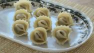 Stock Video Footage of Dish with raviolis