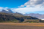 Stock Photo of south icelandic mountain landscape with glacier