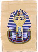Tutankhamun - stock illustration