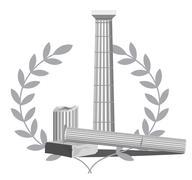 Antique Column Ruins - stock illustration