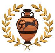 Antique Greek Vase Stock Illustration
