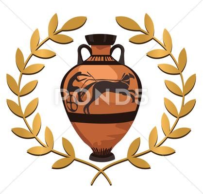 Stock Illustration of Antique Greek Vase