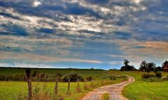 Path on a Farm - stock photo