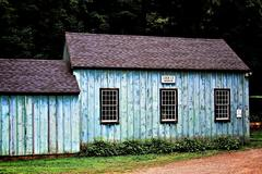 Blue Cottage - stock photo