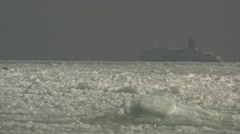 Frozen Baltic Sea - Rügen Island, Northern Germany Stock Footage