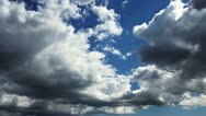 White clouds on blue sky. Time-lapse motion background 1080p Stock Footage