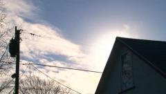 Early Morning Sunrise House Steam Stock Footage