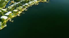 Aerial view Key Largo homes, nr Miami Stock Footage