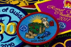 Stock Photo of girl guiding badges