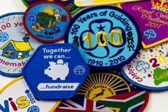 girl guiding badges - stock photo