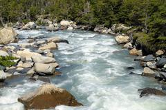 Stock Photo of gushing river