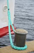Boat anchoring - stock photo