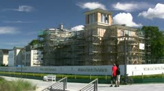 Villa Perle Construction Site in Heiligendamm - Baltic Sea, Germany Stock Footage