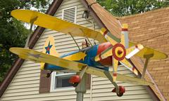 Plane house decoration - stock photo