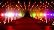 On The Red Carpet 17 colorful lights 720 Stock Footage