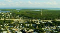 Aerial view exclusive residential properties nr US 1,   Florida Stock Footage