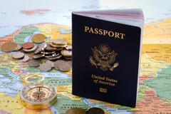 international traveler passport - stock photo