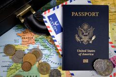 international business travel - stock photo