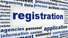 Registration creative message - stock footage