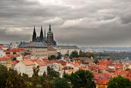 Stock Photo of Prague Castle with a beautiful clouds