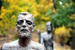 Memorial monument victims of communism in Prague Stock Photos