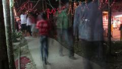 Night market night bazar india traffic timelapse Stock Footage