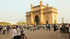 Gateway of India monument, Mumbai, India, T/Lapse Stock Footage