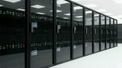 Modern Data Center Server Room 4 720 Stock Footage