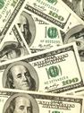 Stock Photo of money background from hundred bucks banknotes