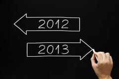 Going ahead to year 2013 Stock Photos