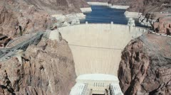 Hoover Dam-Boulder, Nevada from Bypass Bridge Stock Footage
