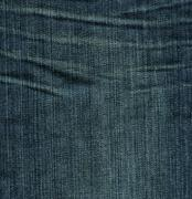 denim fabric texture - imperial blue with crease marks xxxxl - stock photo