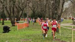 Cross Country Running Race - stock footage