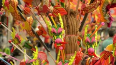 Chinese Dragon Hand Drums Stock Footage