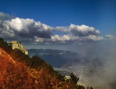Stock Photo of smoky mountains. natural landscape