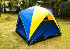 tent canvas. - stock photo