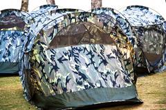 Tent canvas. Stock Photos