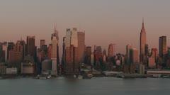 New York City Skyline Day-to-Night Timelapse 1 Stock Footage