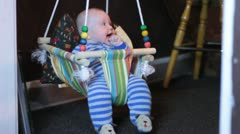 Baby bouncy chair Stock Footage