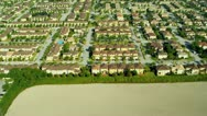 Stock Video Footage of Aerial view residential properties nr Miami