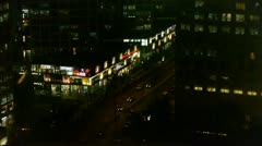 Aerial night traffic in an urban city,China. Stock Footage