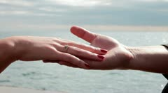 Hands with a ring Stock Footage