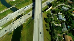 Aerial view vehicles on elevated highways, Florida Stock Footage