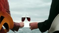Love dating with wine - stock footage