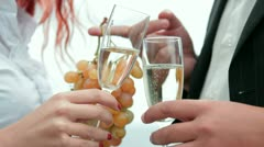 Love dating with champagne - stock footage