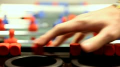 Scorer on table football Stock Footage
