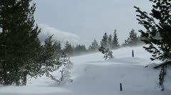 Snowdrift and winter blizzard Stock Footage