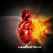 Heart attack. abstract medical and health care backgrounds Stock Illustration