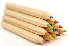 Crayon Pyramid - stock photo