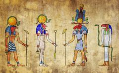 Egyptian gods Stock Photos